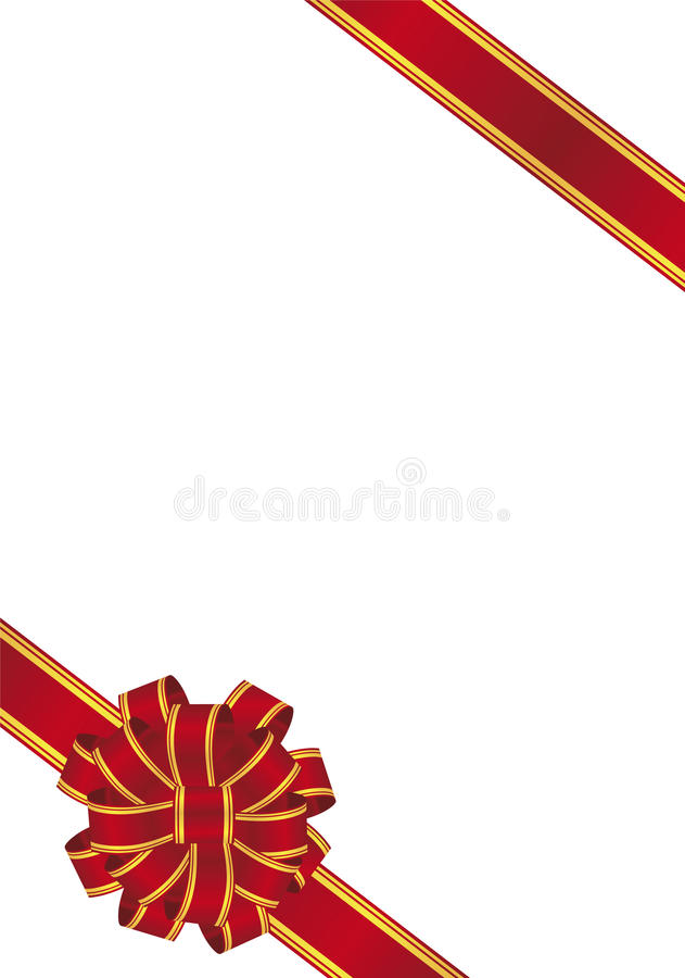Download Red Gift Bow stock vector. Image of gold, isolated, illustration - 10158961
