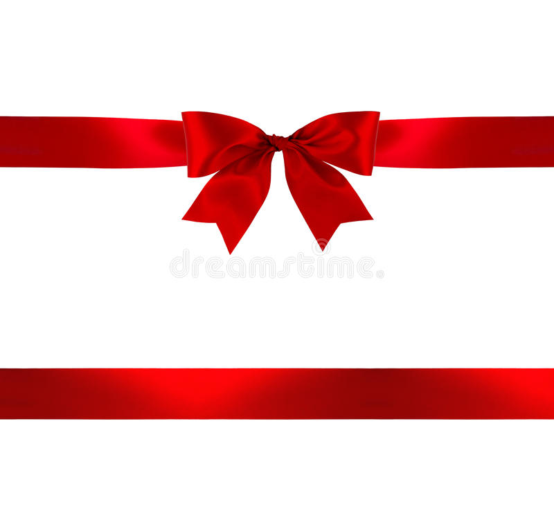 Free Red Gift Bow And Ribbon Royalty Free Stock Image - 76925206