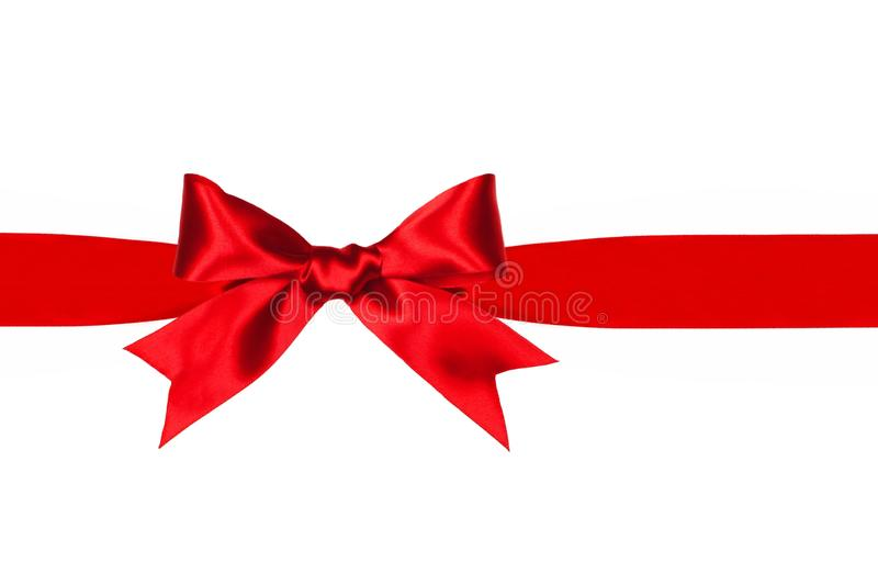 Red gift bow and ribbon isolated stock image image of silk download red gift bow and ribbon isolated stock image image of silk vibrant negle Image collections