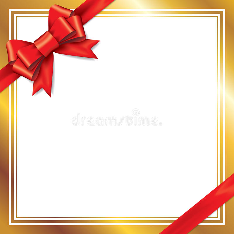 Free Red Gift Bows With Ribbons. Royalty Free Stock Image - 41748066