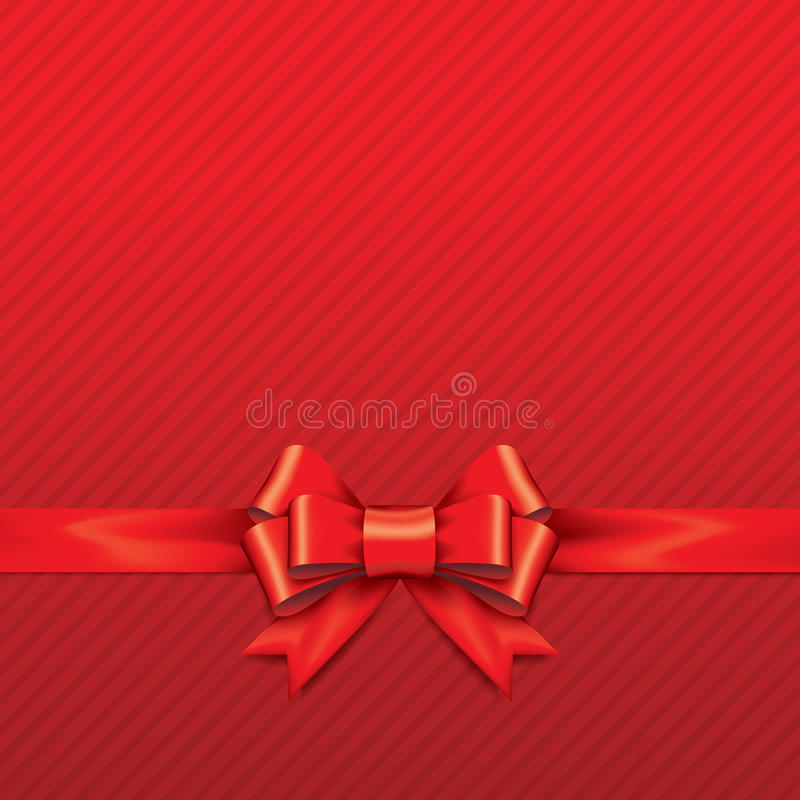 Free Red Gift Bows With Ribbons. Royalty Free Stock Images - 41748079