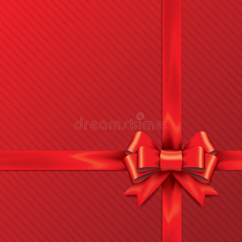 Free Red Gift Bows With Ribbons. Stock Photo - 41748080