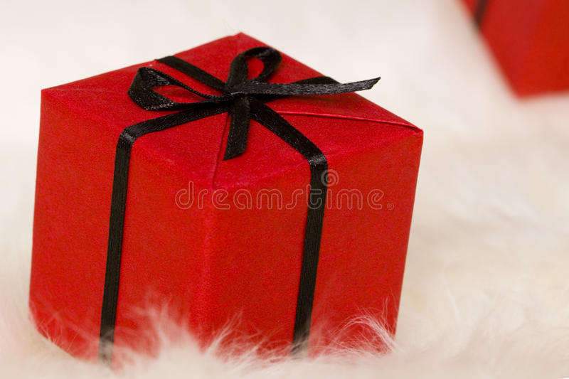 Download Red gift box stock photo. Image of love, macro, holiday - 12076726