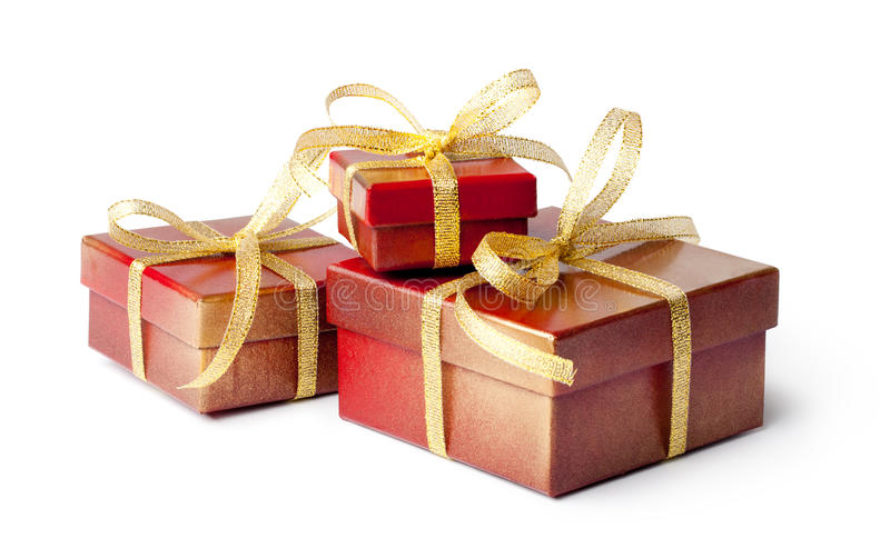 Download Red gift box stock photo. Image of decorative, decoration - 27381562