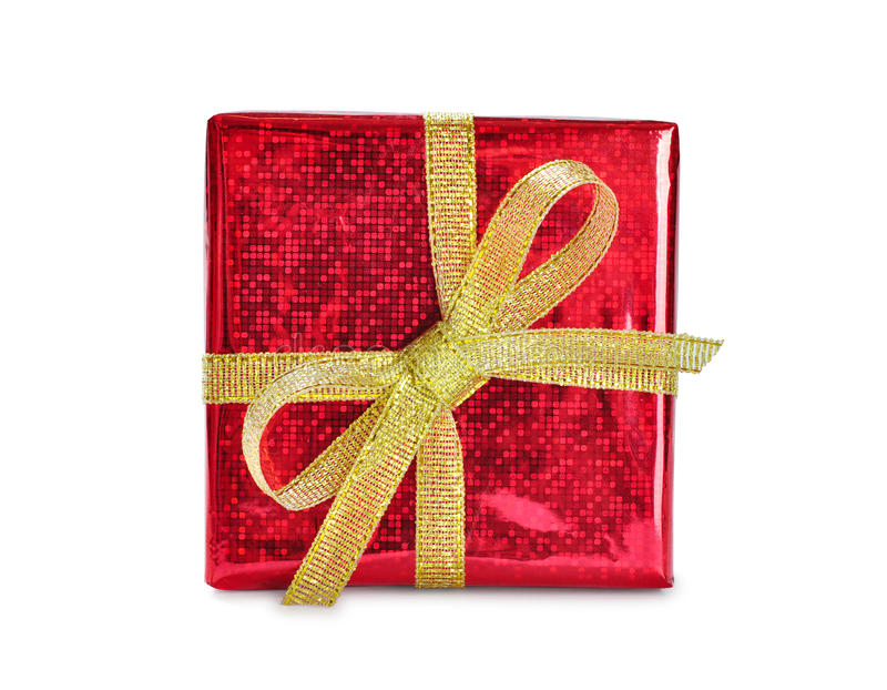 Download Red gift box stock image. Image of color, event, ornate - 28131469