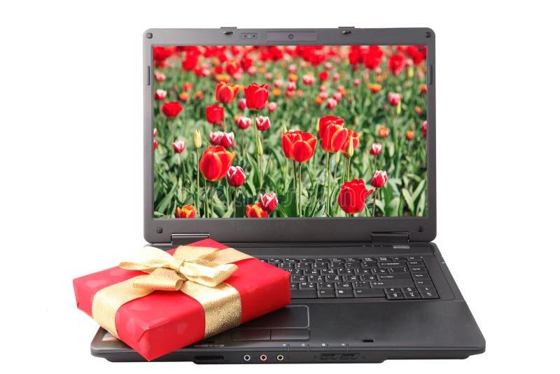 Download Red gift box stock image. Image of mobile, display, keypad - 8740563