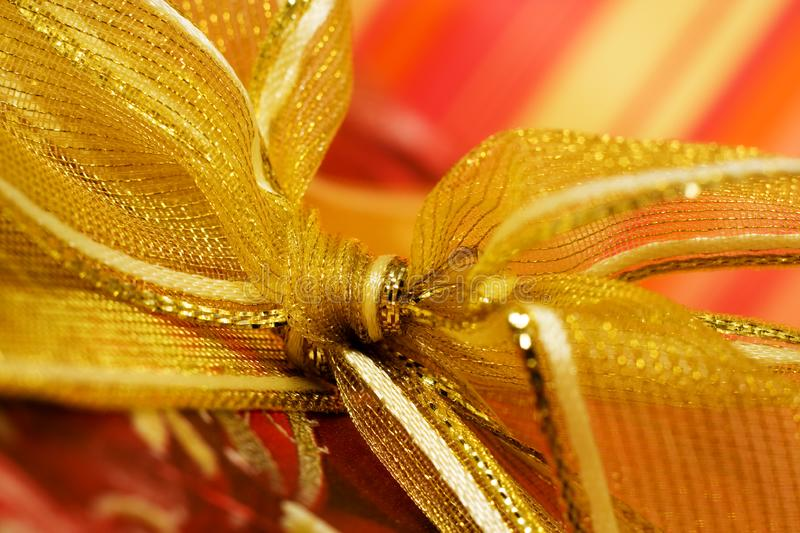 Download Red Gift Box With Golden Ribbon Stock Photo - Image: 5839602