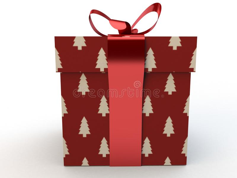 Download Red Gift Box With Ribbon Bow 3d Illustration Rendering Stock Photo - Image: 79954615