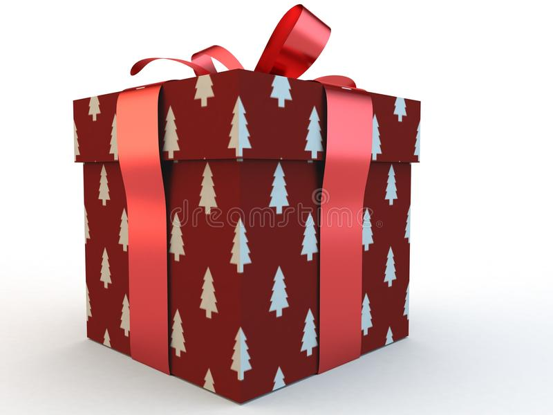 Download Red Gift Box With Ribbon Bow 3d Illustration Rendering Stock Photo - Image of beautiful, christmas: 79954636