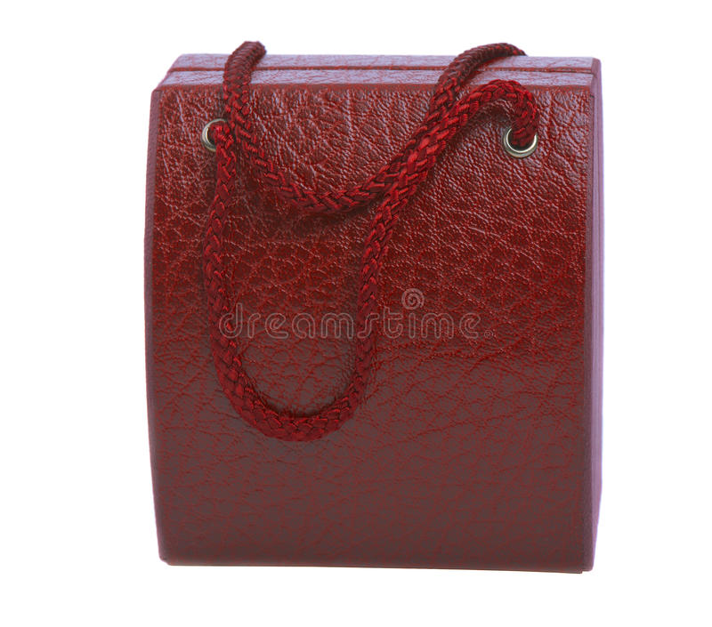 Red gift box for wrist watches stock photography