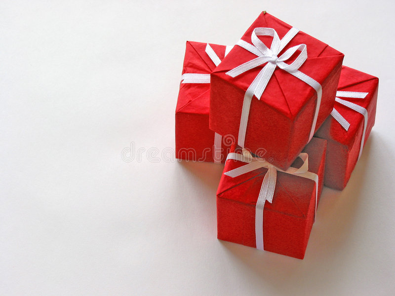 Red gift boxes 1 royalty free stock photos