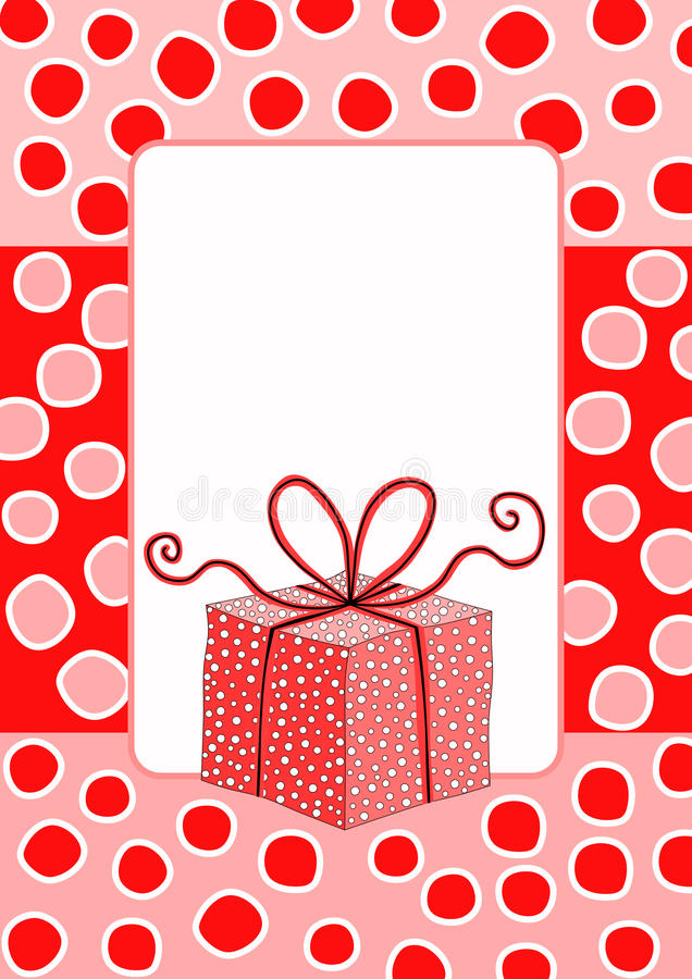 Red Gift Christmas Card royalty free stock photo