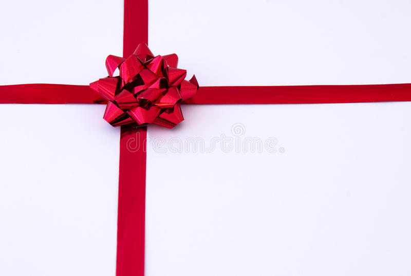 Download Red gift ribbon stock image. Image of christmas, decor - 13438127
