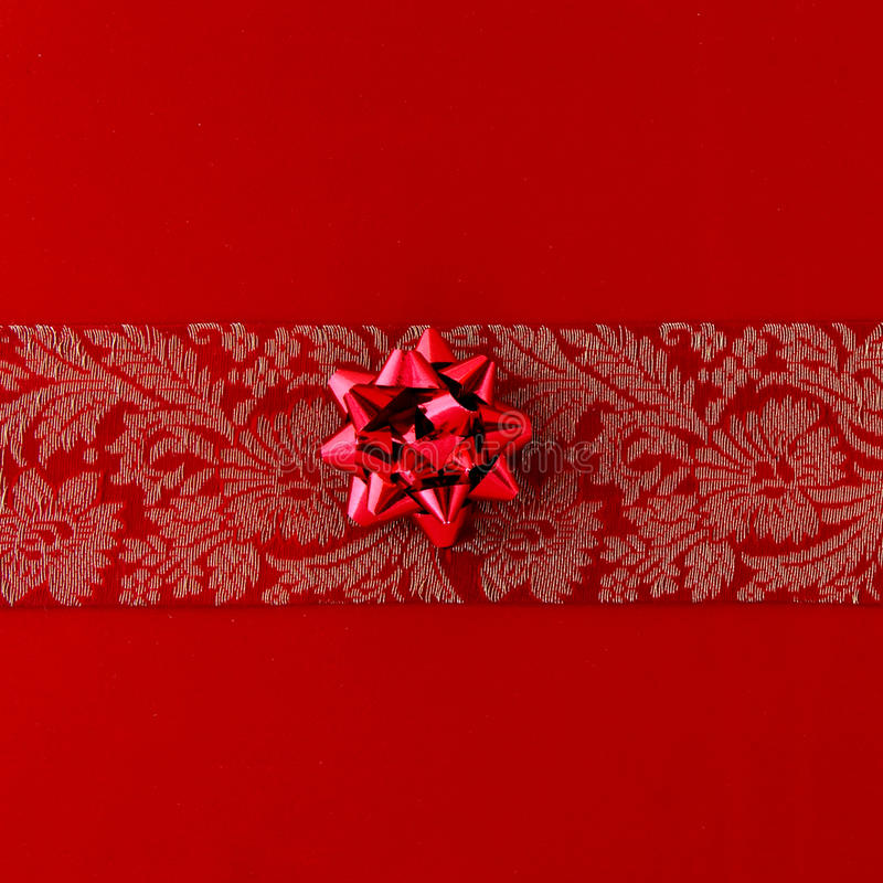 Download Red gift ribbon stock illustration. Image of flower, gift - 13452001