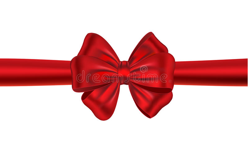 Red Gift Ribbon With Bow Stock Photo