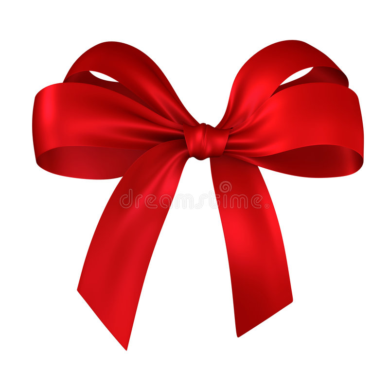 Red gift, ribbon, bow royalty free illustration