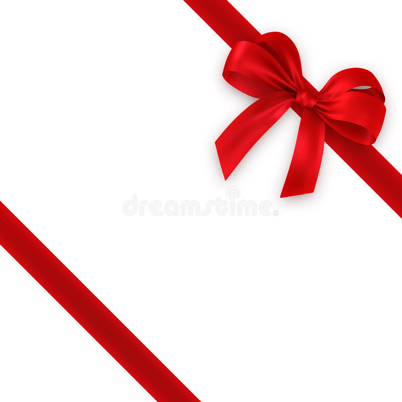 Red gift, ribbon, bow royalty free stock images