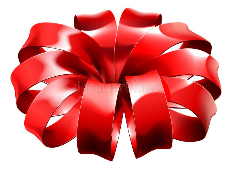 Gift Ribbon Red Bow Wrap vector illustration