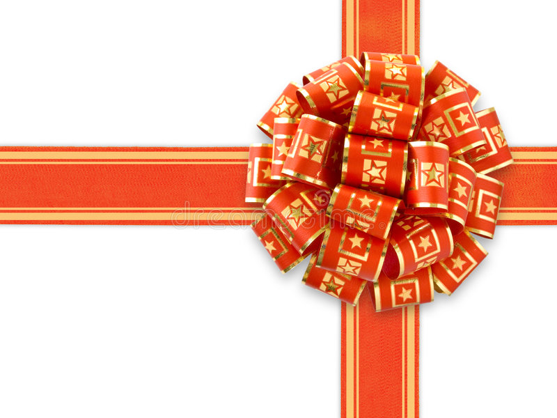 Download Red Gift Ribbon Over White stock photo. Image of isolated - 1309710