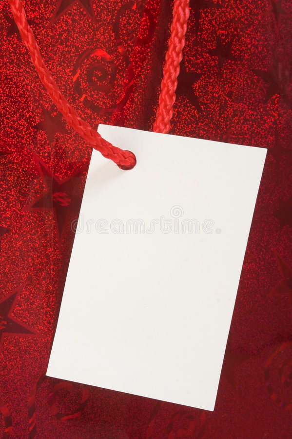 Download Red gift tag stock image. Image of christmas, package, care - 238705
