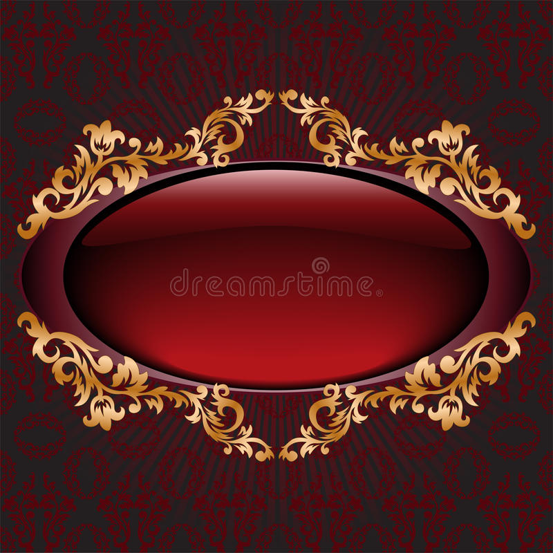 Red With Gilt Vignette Royalty Free Stock Image