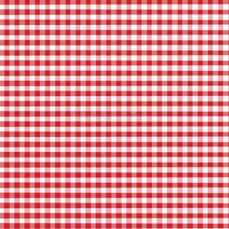 Red Gingham vector illustration