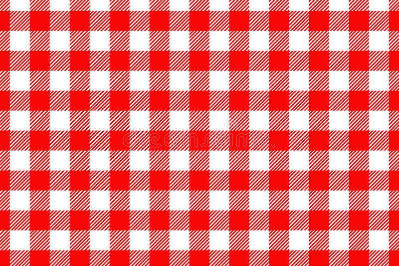 Red Gingham pattern. Texture from rhombus/squares for - plaid, tablecloths, clothes, shirts, dresses, paper, bedding, blankets, royalty free stock photography