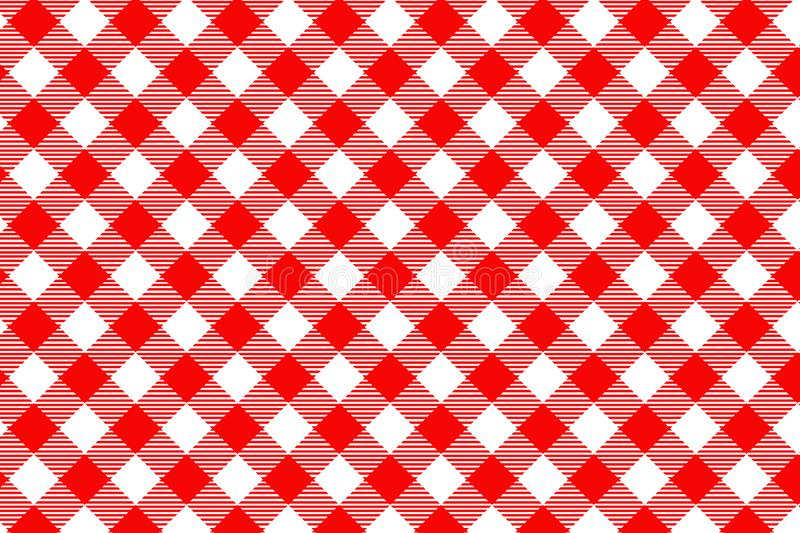 Red Gingham pattern. Texture from rhombus/squares for - plaid, tablecloths, clothes, shirts, dresses, paper, bedding, blankets, stock photography