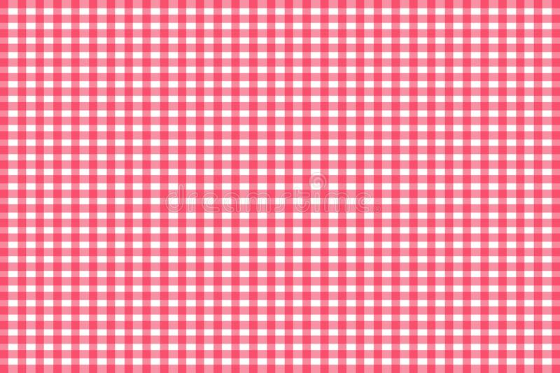 Red Gingham seamless pattern. Texture from rhombus/squares for - plaid, tablecloths, clothes, shirts, dresses, paper, bedding, vector illustration
