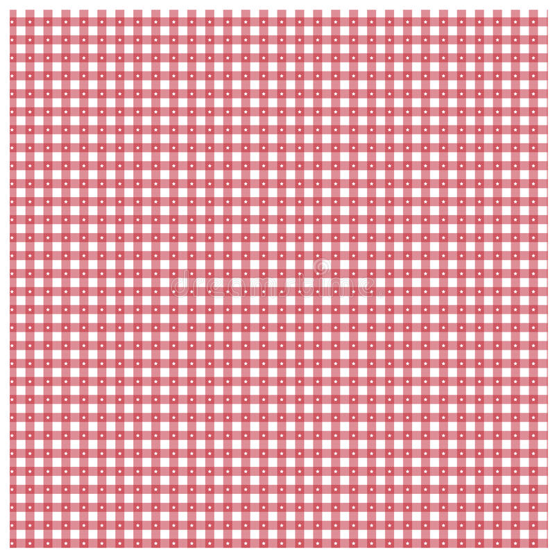 Red Gingham With Star Pattern Royalty Free Stock Photography
