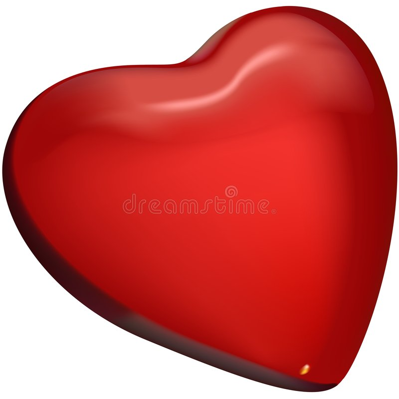 Free Red Glass Heart 01 Royalty Free Stock Photo - 2478025