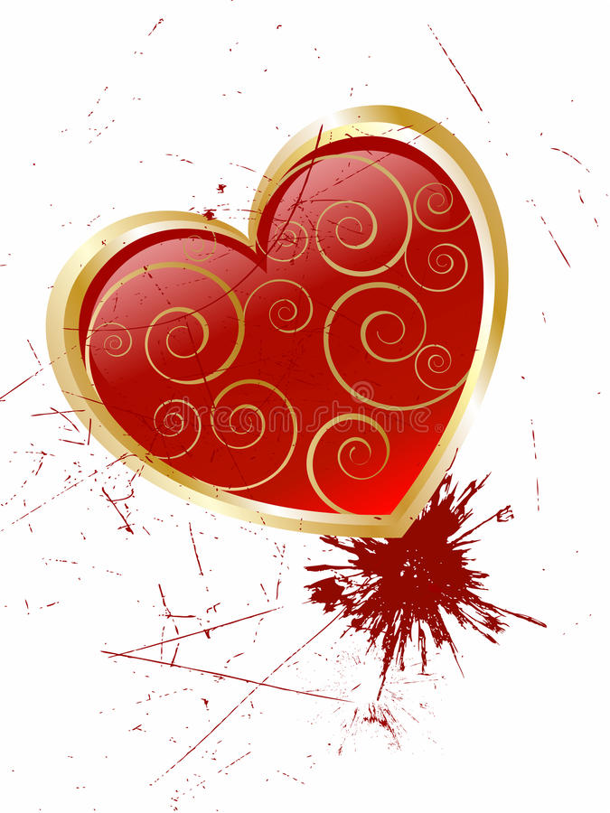 Red glass heart royalty free illustration