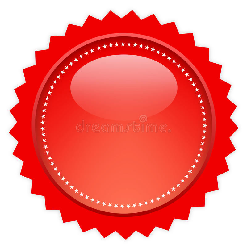 Red glass price tag royalty free illustration