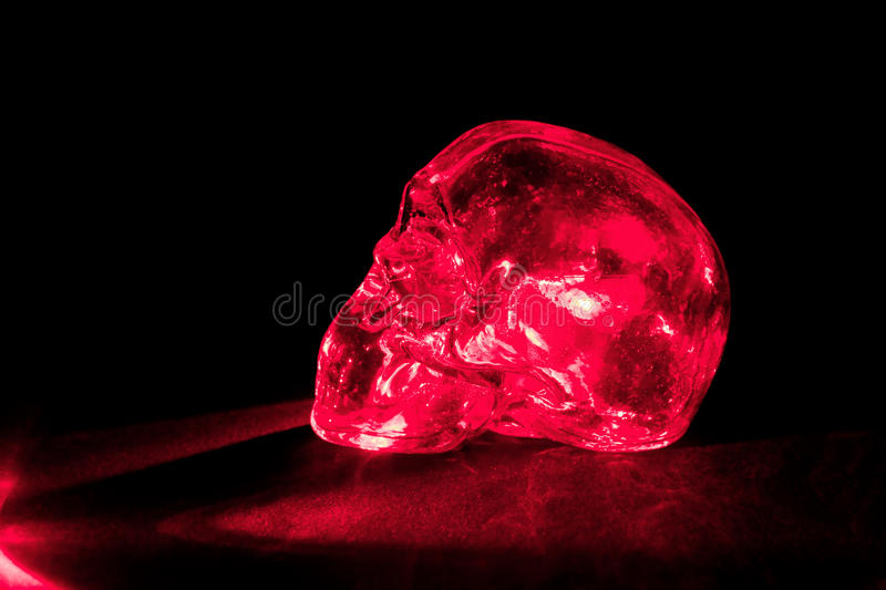 Download Red glass skull stock image. Image of light, cranium - 25746777
