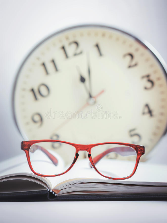 Free Red Glasses On The Book Stock Photo - 56295300
