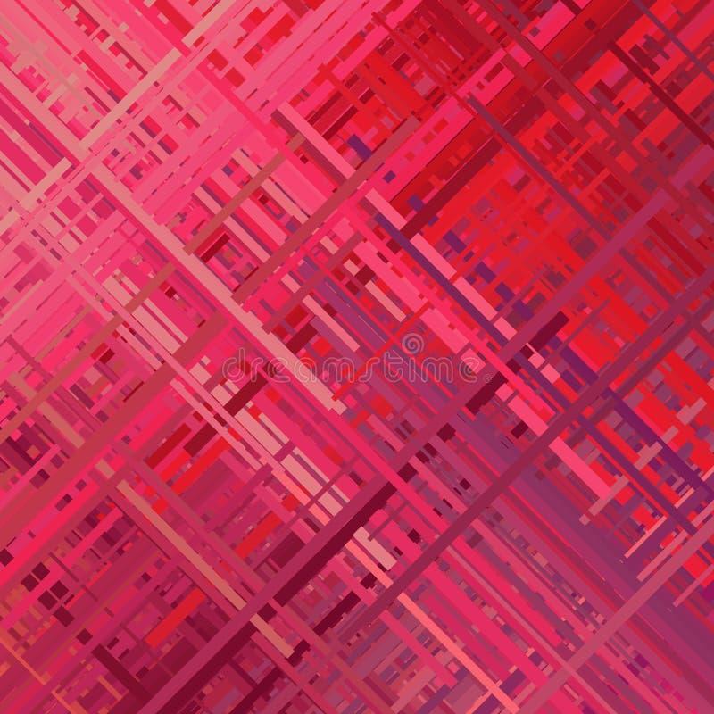 Red Glitch Background stock illustration