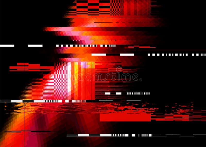 Red Glitch Background royalty free illustration