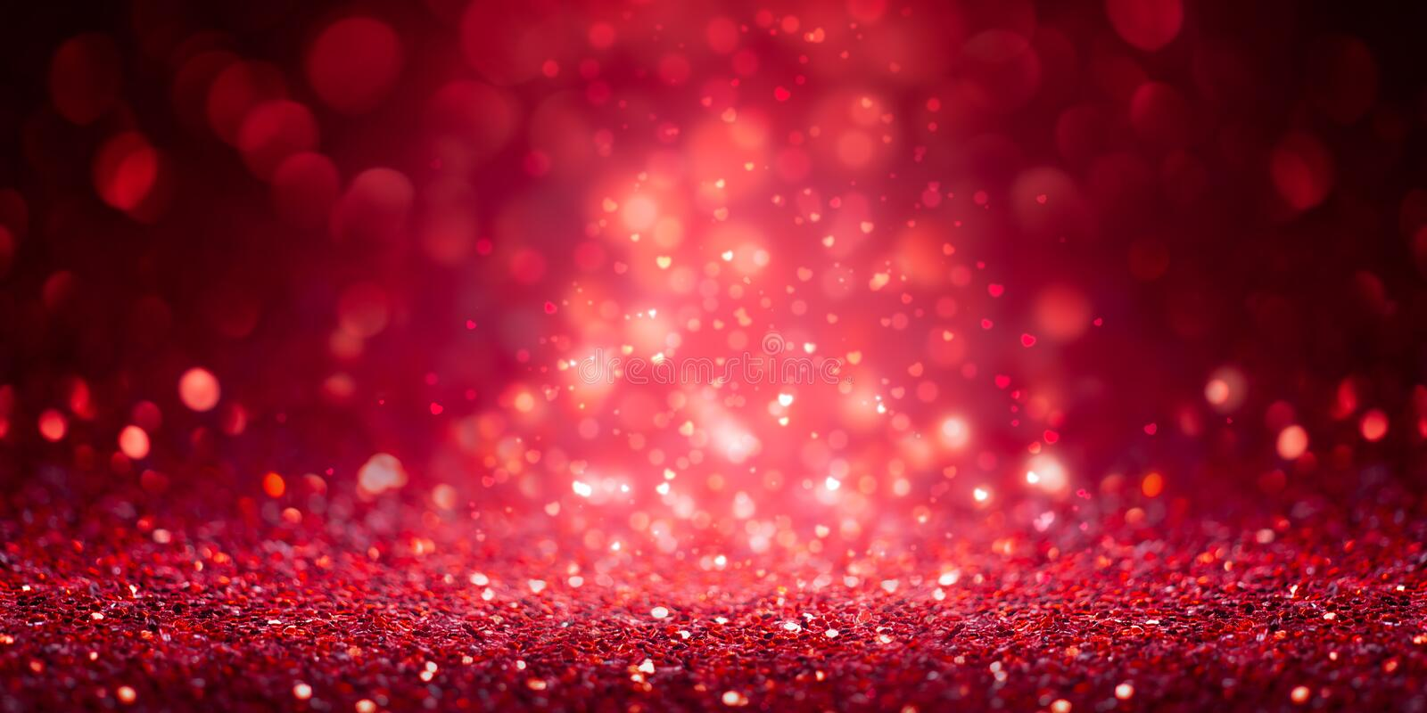 Red Glitter Banner. Holiday Background royalty free stock photo