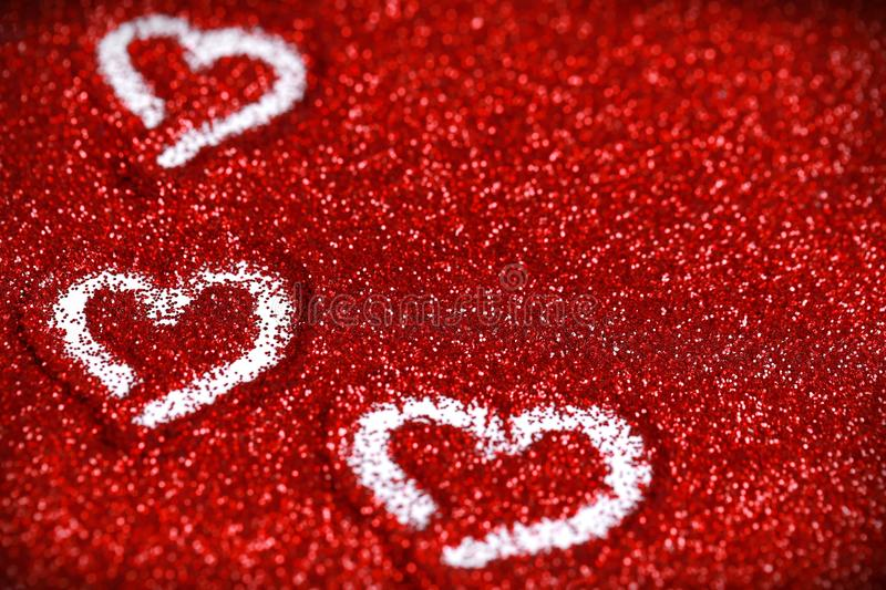 red glitter hearts valentine u0026 39 s day abstract background