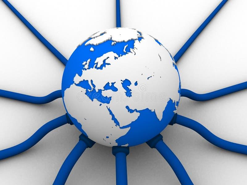 Red global ilustración del vector
