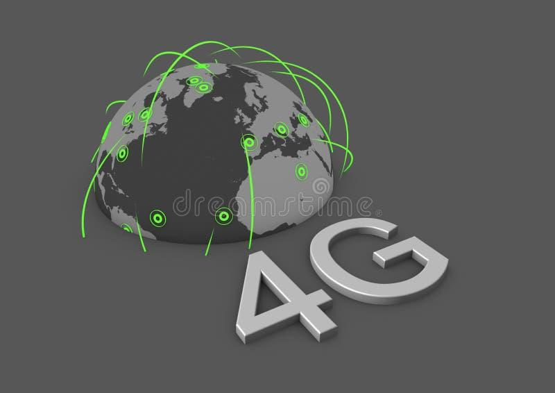 Red global 4g stock de ilustración
