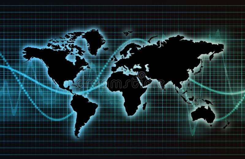 Red global de la industria de las telecomunicaciones stock de ilustración