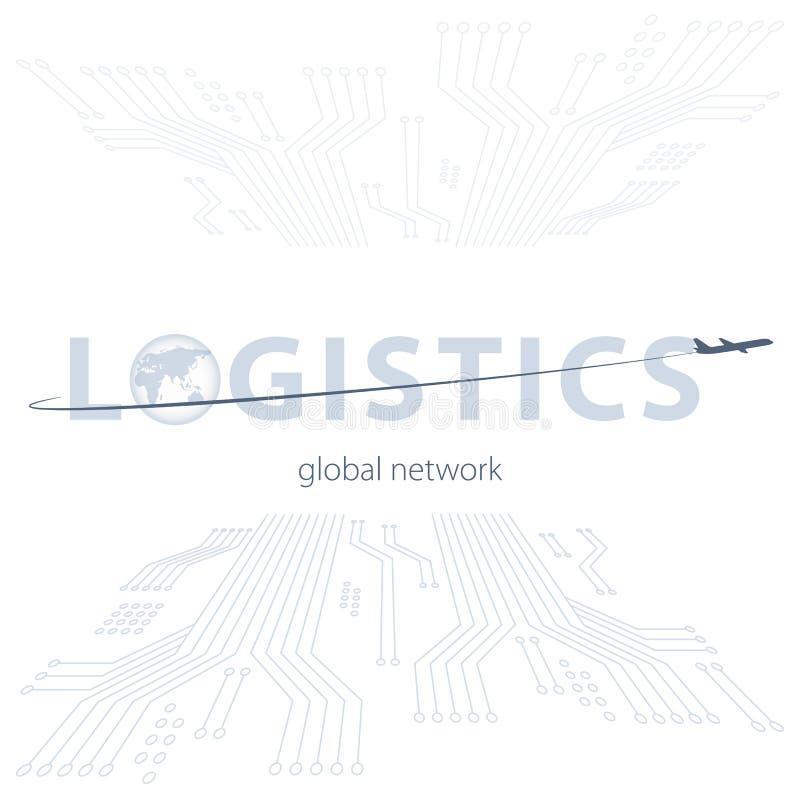 Red global de la logística Conexión global de la sociedad de la logística del mapa Concepto de red global de la logística con el  libre illustration