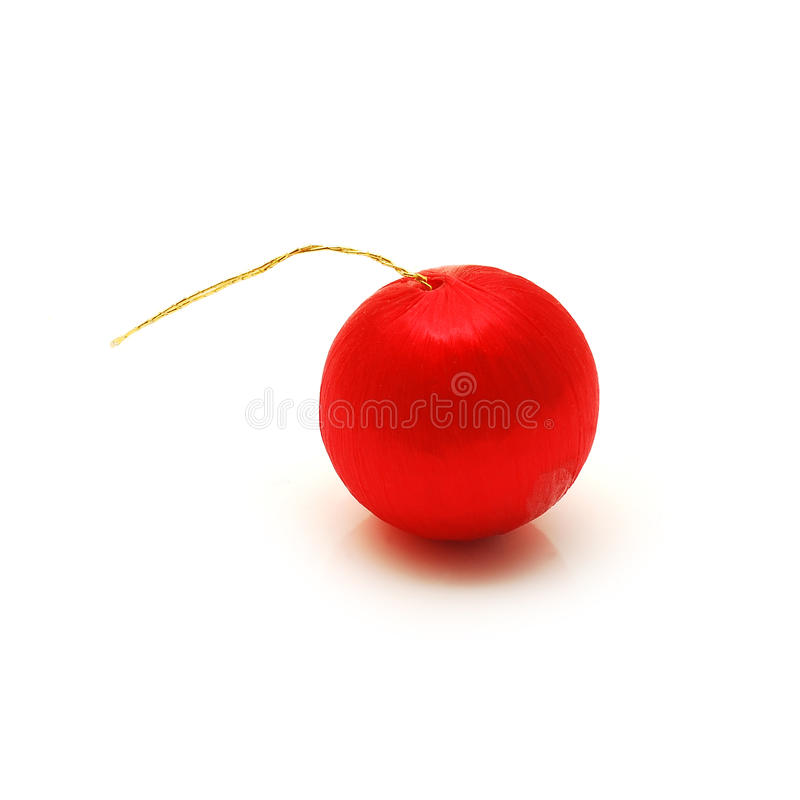 Download Red globe stock image. Image of isolated, ornament, tree - 12038799