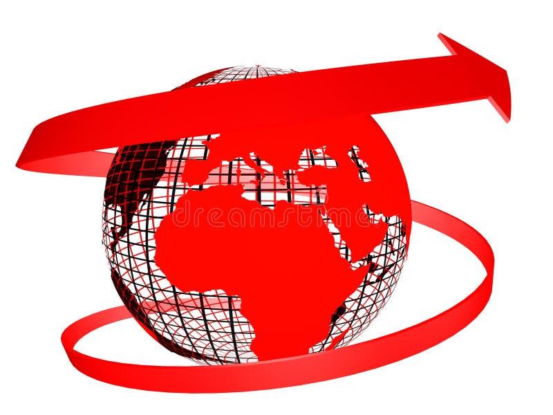 Red Globe royalty free illustration