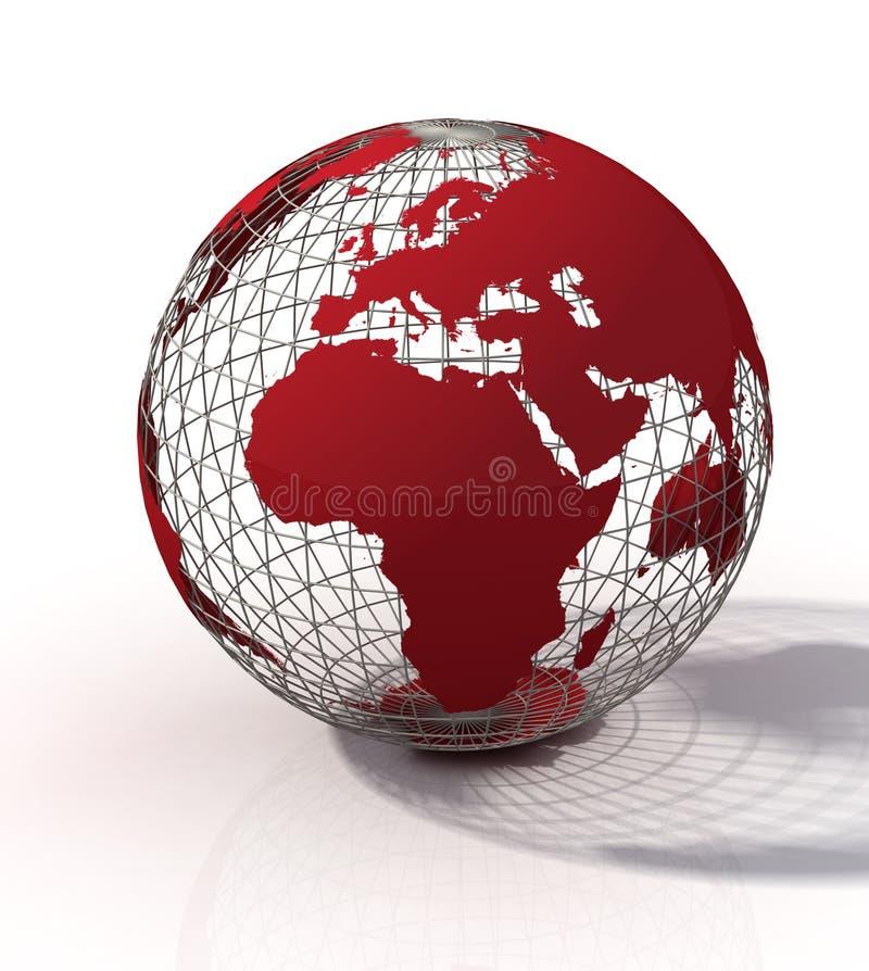 Red globe vector illustration