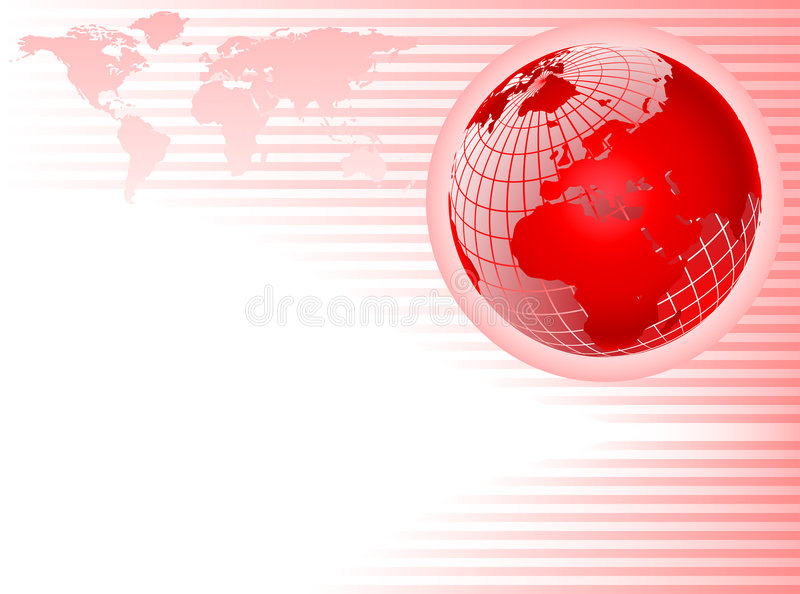 Red Globe abstract Background stock illustration