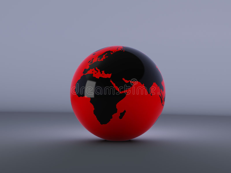 The red globe a set two royalty free illustration