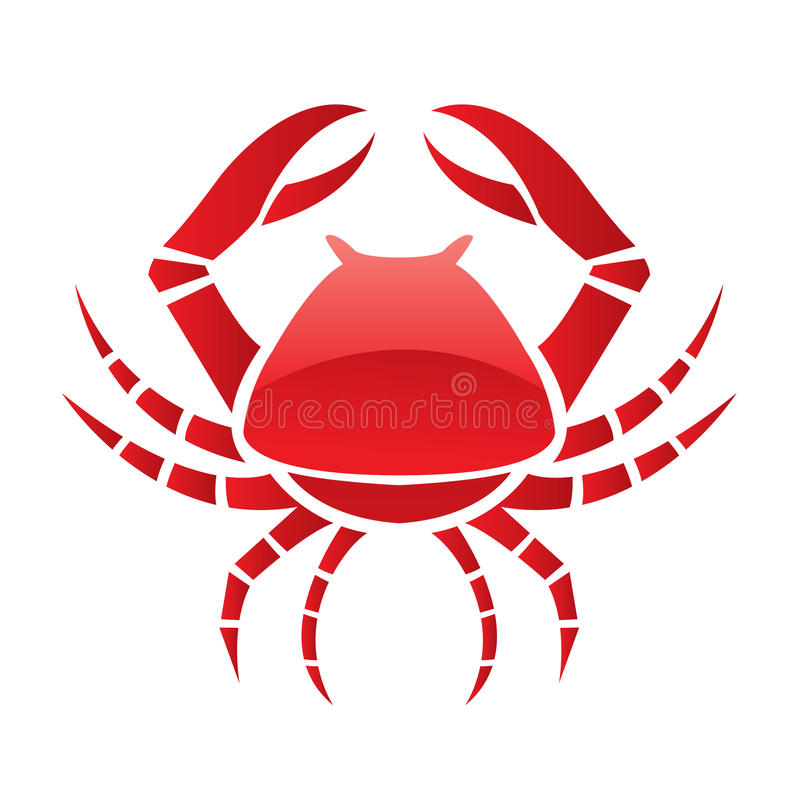 Red glossy crab royalty free illustration