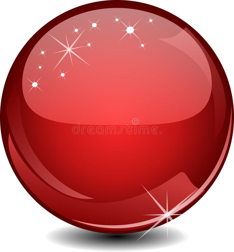 Red Glossy Sphere Stock Photography